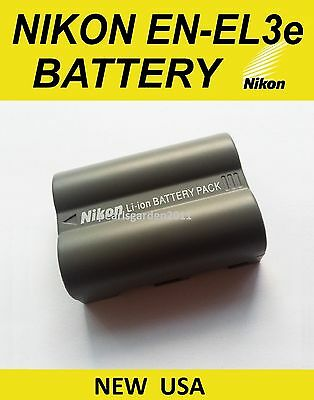 NEW OEM Nikon Battery EN-EL3e for D50 D70 D70s D80 D90 D100 D200 D300s D700