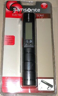 Samsonite Electronic Luggage Scale w/Tape Measure Up to 80 lbs New Free Ship