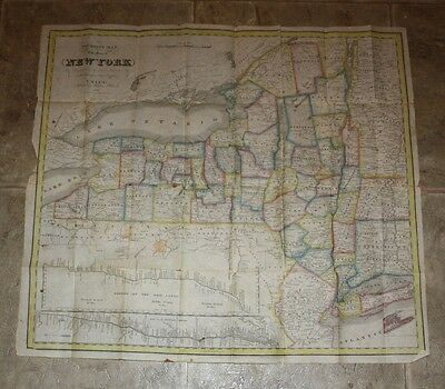 Antique 1832 Map Of  New York State