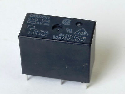 Omron G5Q-1A4-DC24 POWER PCB RELAY General Purpose SPST 10A 24