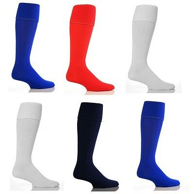 Boys/Girls Mens/Womens Plain Football Socks Soccer Hockey Rugby Sports PE Socks