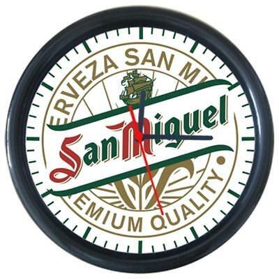 San Miguel Cold Drinks Beverage Beer Logo Sign Round Wall Clock