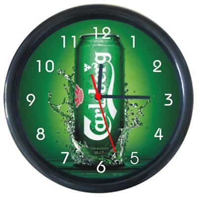 Carlsbery Cans Bottle Beverage Beer Drinks Round Wall Clock