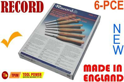 Wood Lathe Chisels RECORD, 6-PCE, Built To Last***