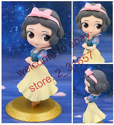Q posket Disney Characters girl Princess PVC figure gift Loose Snow White Golden