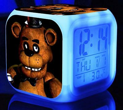 1x Five Nights 7 Color LED Alarm Clock FNAF at Freddy's Kid  Birthday Gift