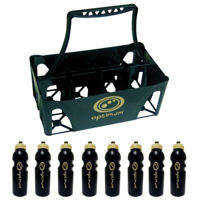 Optimum Sports Water Bottle Carrier & Bottles Plastic Moulded