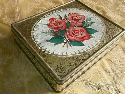 "Vintage ""Brookes-Beattie""Roses Tin"