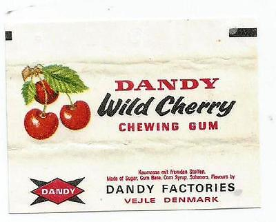 Vtg Dandy Wild Cerry Chewing Gum Wrapper