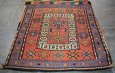 RARE GENUINE ANTIQUE CAUCASIAN SUMAC TRIBAL SHAHSAVAN  RUG STORAGE BAG 1900ss