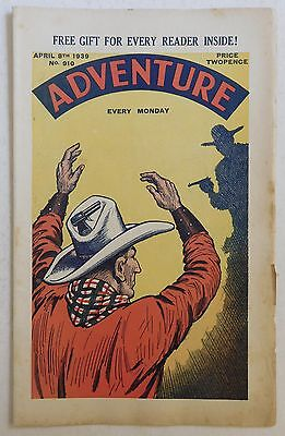 ADVENTURE #910 - 8th April 1939