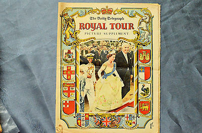 The Daily Telegraph 1954 Royal Commonwealth Tour Picture Supplement Souvenir