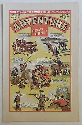ADVENTURE #1003 - 18th January 1941