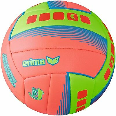 Erima Allround Volleyball fiery coral green Gr. 5 Beachvolleyball NEU