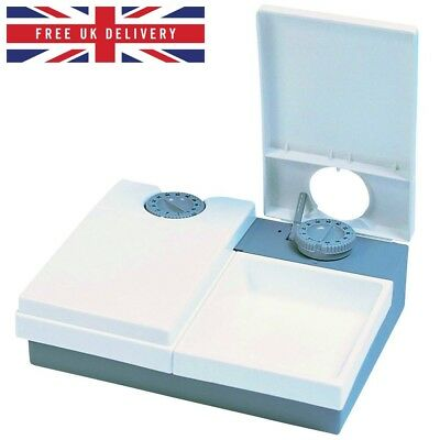 Cat Mate C20 Automatic 2 Meal Pet Feeder for Cats and Small Dogs White ORIGINAL