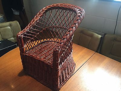 child's vintage wicker chair
