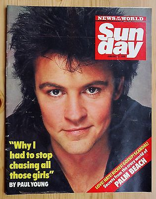 SUNDAY Vintage Magazine RARE 1986 - Paul Young Cover & Interview