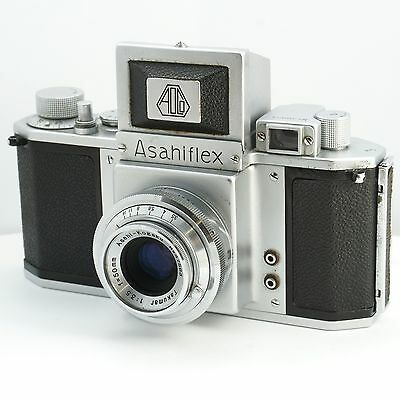 Rare 1953-54 Asahiflex IA 1A Film SLR Camera Kit with Takumar 50mm 3.5 Lens M37