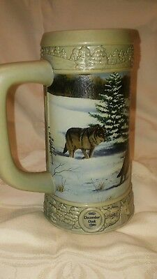 Miller December Dusk Stein 1999 Holiday Stein