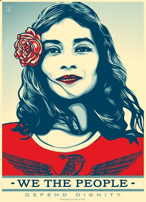 WE THE PEOPLE defend dignity Shepard Fairey OBEY GIANT art print poster