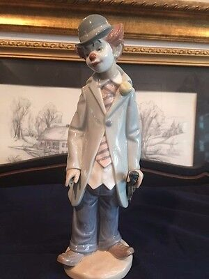 Lladro Figurine Clown with Violin Retired 5472 Mint Condition