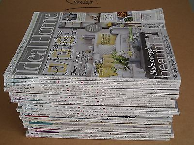 Qty 22 x Ideal Home Magazines - Interior Design Ideas for DIY enthusiast!