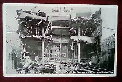 S.S Suevic White Star in dock Southampton 1907 disaster (all on board rescued)