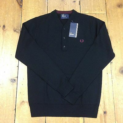 fred perry zip front pullover jumper xl picclick uk. Black Bedroom Furniture Sets. Home Design Ideas