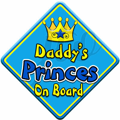 NEW  GEM JEWEL PRINCES  Novelty Personalised Baby on Board Car Window Sign