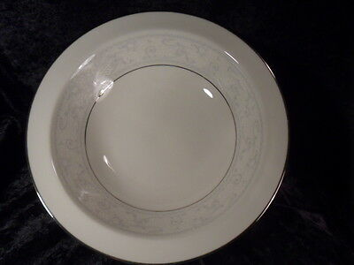 Noritake Trudy White Platinum Round Serving Bowl Vegetable 7087 Rare Euc