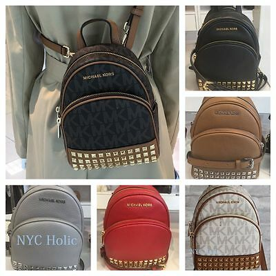 328766e4506a NEW MICHAEL KORS Abbey XS Studded Mini Backpack Crossbody NWT ...
