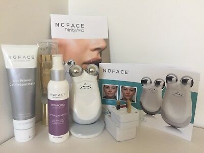 Nuface Trinity Pro Facial Trainer Toning Device Kit With Gels & Spray