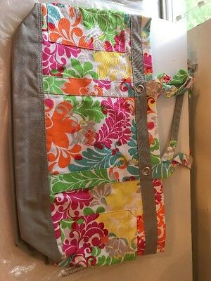 NIP Thirty-one Easy Breezy Beach Bag Island Damask Large Overnight Carry On Tote