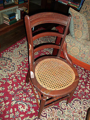 Cane Bottom Side Chair - Round Seat - Ladder Back - As Is & CANE BOTTOM SIDE Chair - Round Seat - Ladder Back - As Is - $39.95 ...