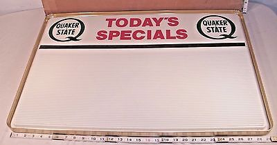QUAKER STATE OIL TODAY'S SPECIAL AD LIBBER ADVERTISING SIGN BOXED UNUSED 1970s