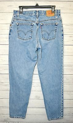 Levis 550 Jeans Womens 12 MIS Relaxed Fit Tapered Leg Blue Denim Zip Fly Cotton