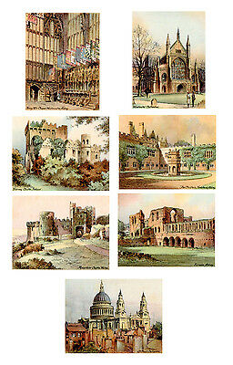 Various THE NATIONS SHRINES SERIES Large Players Cigarette Cards c1930 Buildings