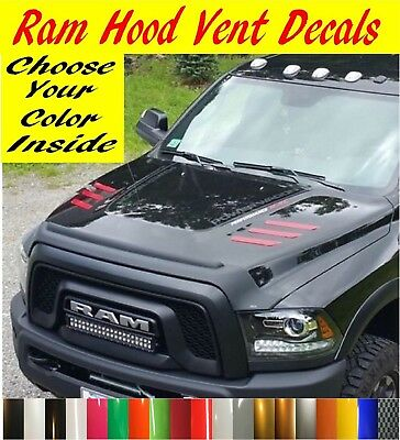2010-2018 Dodge Ram 2500 & 3500 Hd Hood Vent Decals Inserts Stickers