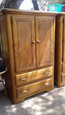 SOLID OAK DRESSER ARMOIR - HANDSOMELY BEAUTIFUL - QUALITY - lOCAL PICK UP ONLY