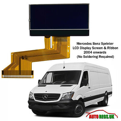 Mercedes Benz Sprinter LCD VDO SCHERMO DISPLAY PER QUADRO STRUMENTI CRUSCOTTO