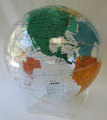Vintage 1986 Spherical Concepts Acrylic Globe & Stand