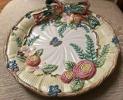 Fitz and Floyd Decorative Floral Vintage Plate