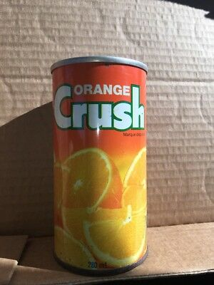 Vintage Rare Canadian Orange Crush Soda 280 ML Steel Can Crush International