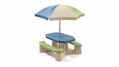 Step2 Naturally Playful Picnic Set with Umbrella for Childrens Lunch and Play