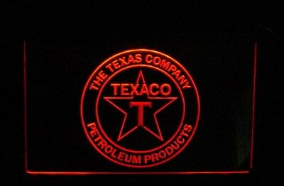 LED NEON SIGN • TEXACO • In Box  •• SHIPS From USA! •• The Texas Company • Oil