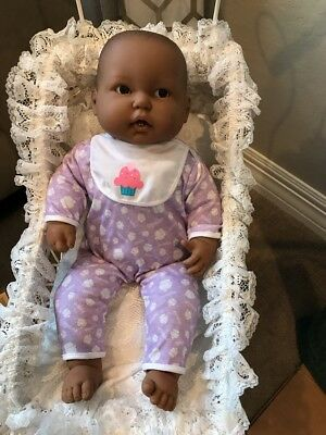 """Berenguer 20"""" Black AA For REBORN Or Play Baby Doll With Teeth And Binky HTF"""