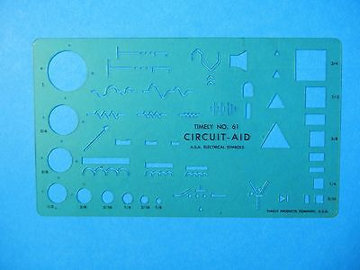 TIMELY PRODUCTS No. 61 A.S.A. ELECTRICAL SYMBOLS CIRCLES RECTANGLES TRIANGLES