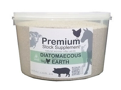 Diatomaceous Earth Animal Grade 1kg Granular Organic Aust.4 cattle HORSES sheep