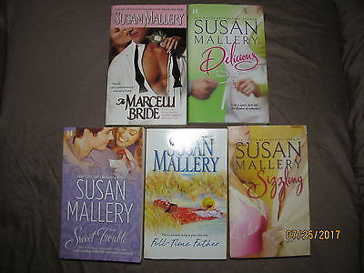 Lot of 5 Susan Mallery PB Delicious, Sweet Trouble, Sizzling, Full Time Father+