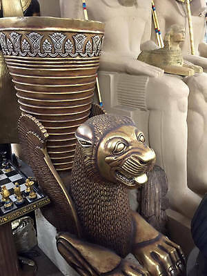 Vintage Hand Made Life Size Heavy Egyptian Cheetah 1981